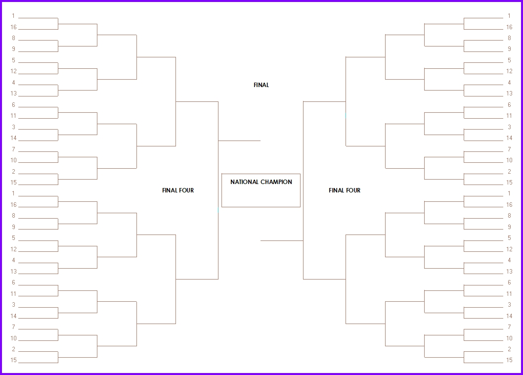 Single and double elimination tournament bracket creator for Tournament spreadsheet template