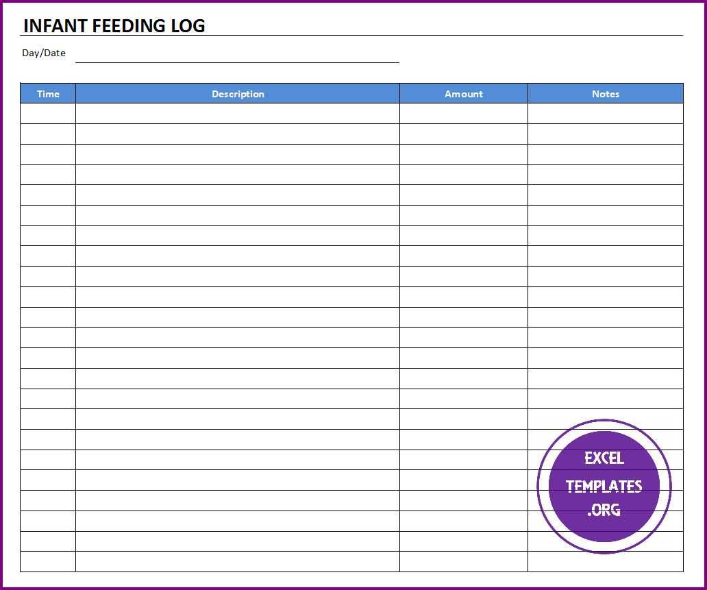How To Make A Food Log On Excel
