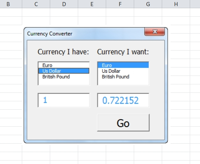 Currency Converter Excel Template