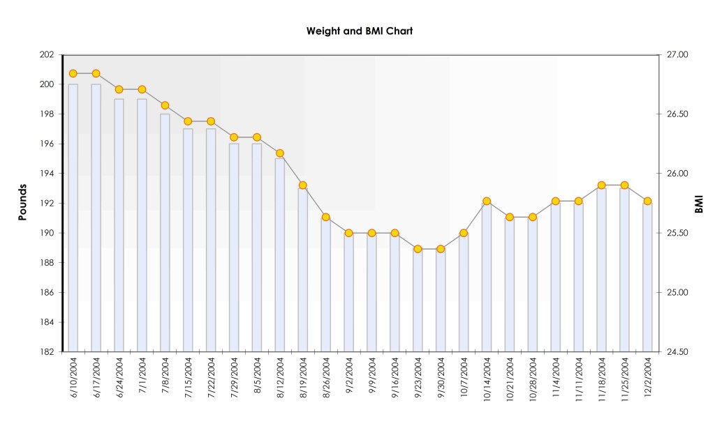 Fitness Chart for Men Excel Template