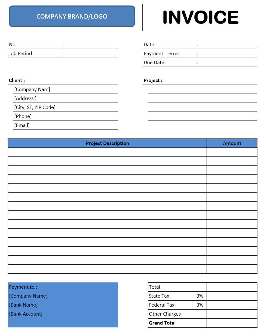 Consultant Invoice Excel Template