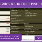 Auto Repair Shop Bookkeeping Template - ExceltemplatesORG